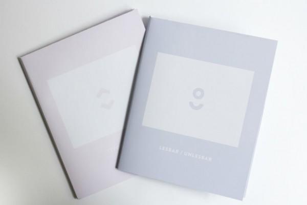 Folder »Experimentelle Typografie und Lesbarkeit«