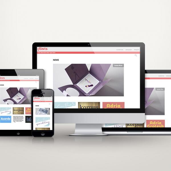 Webdesign Fönts